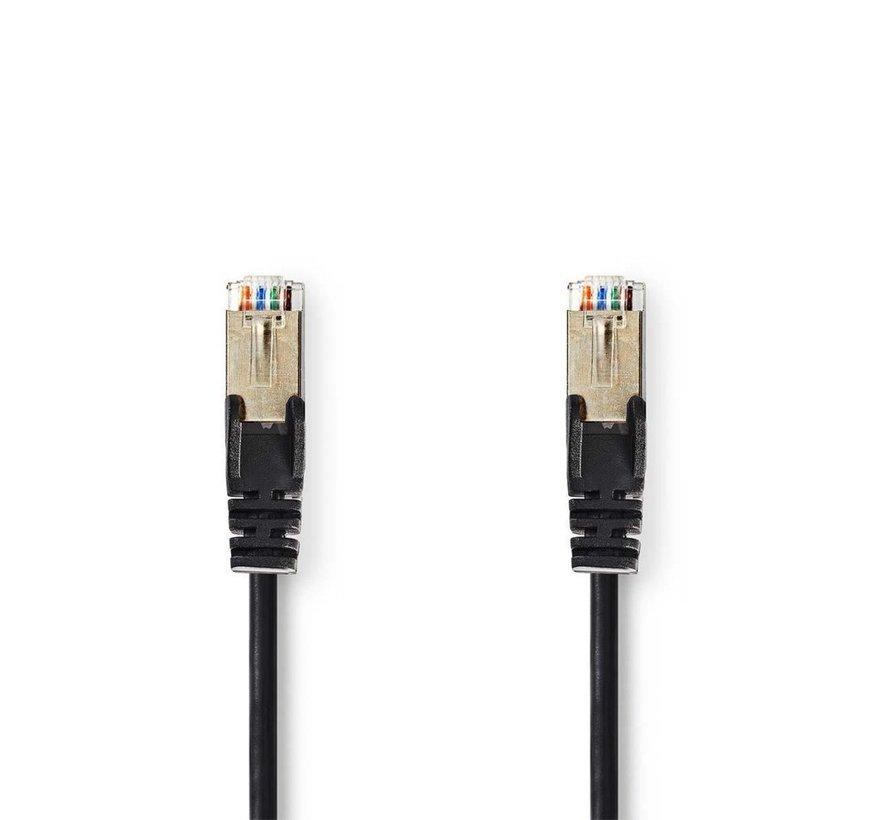 CAT5e SF/UTP-Netwerkkabel/RJ45 3m Zwart