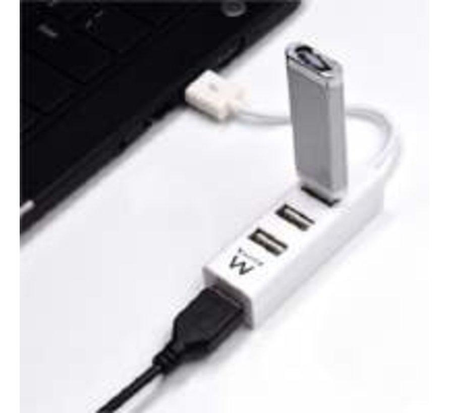 USB 2.0 Hub mini 4 port white