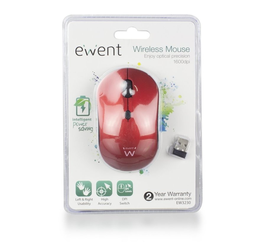 Wireless mouse red 800/1200/1600dpi
