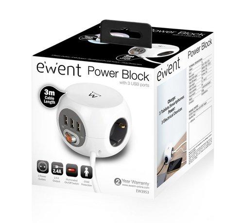 Ewent Power block 3 USB charging ports