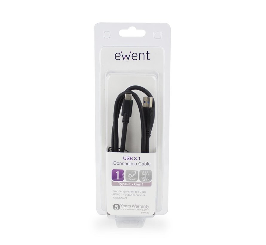 Type-C - Type-A male Converter Cable USB 3.1 Gen1 (USB 3.0)