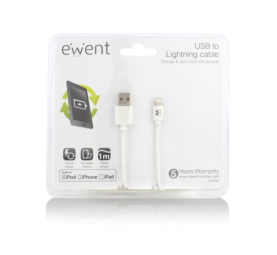 USB Lightning Cable for Apple 1.0M