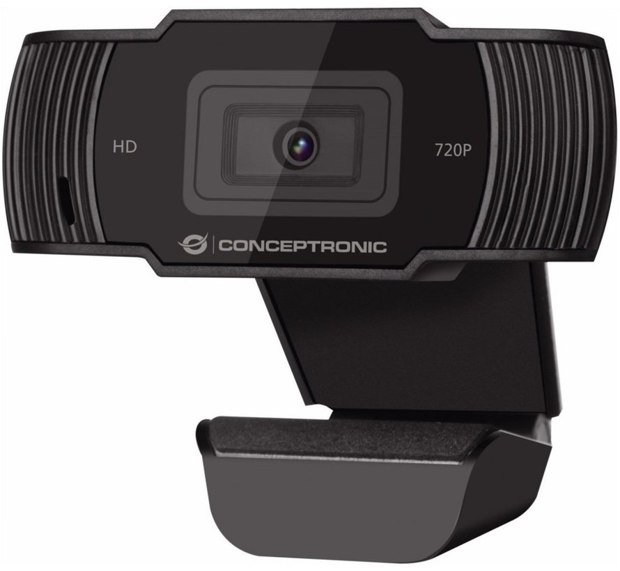 Conceptronic AMDIS 720P HD Webcam + Microphone zwart