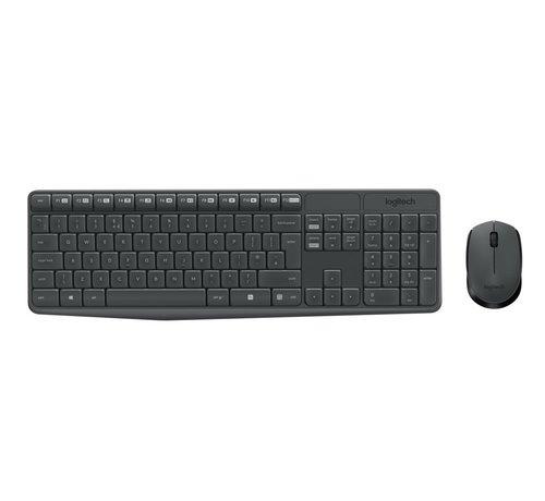 Logitech Ret. Wireless Desktopset Keyboard  + Mouse MK235