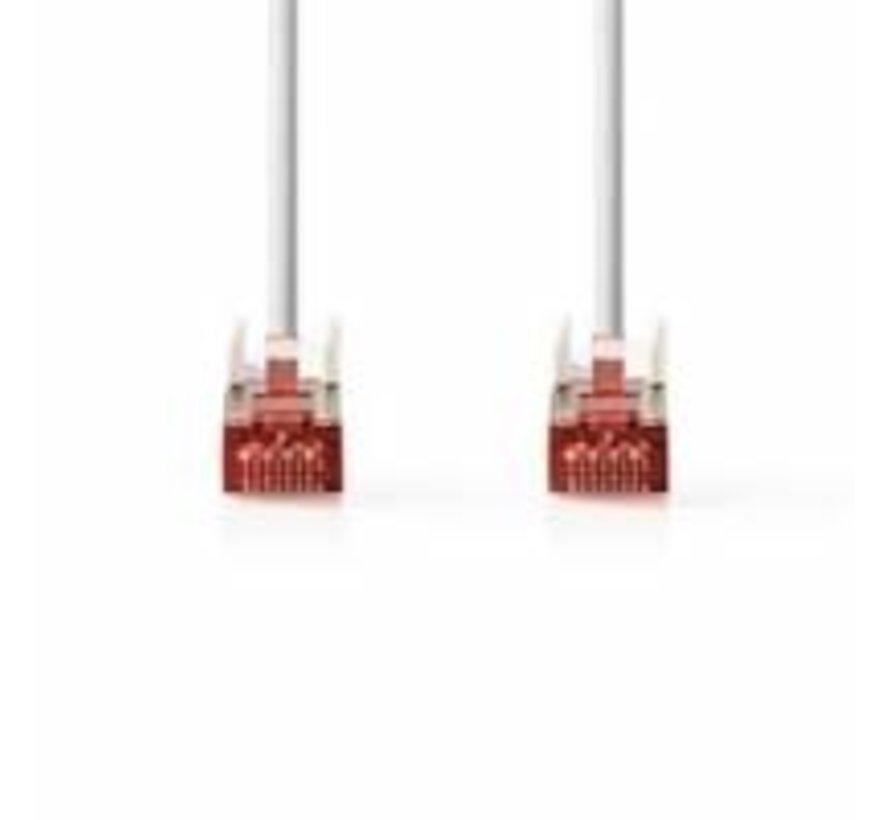 CAT6 S/FTP-netwerkkabel/RJ45 3m Wit