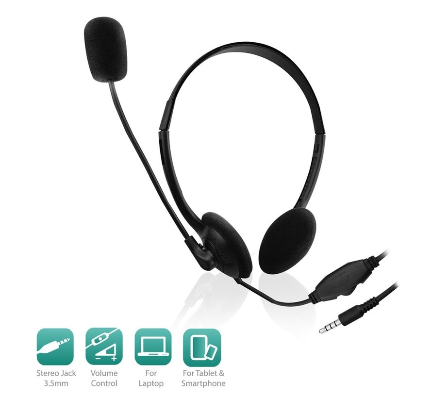 Headset with mic for smartphone and tablet
