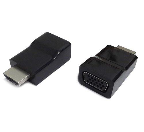 OEM Gembird A-HDMI-VGA-001 kabeladapter/verloopstukje Zwart