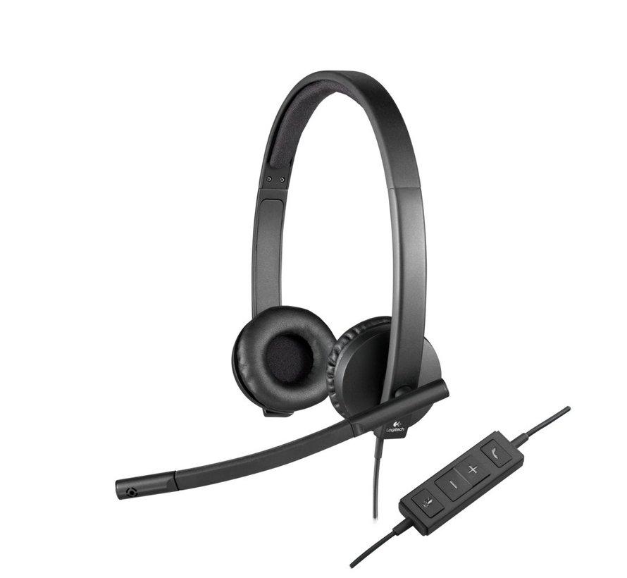 H570e Headset Hoofdband Zwart