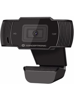 OEM Conceptronic AMDIS 720P HD webcam 1280 x 720 Pixels USB 2.0 Zwart