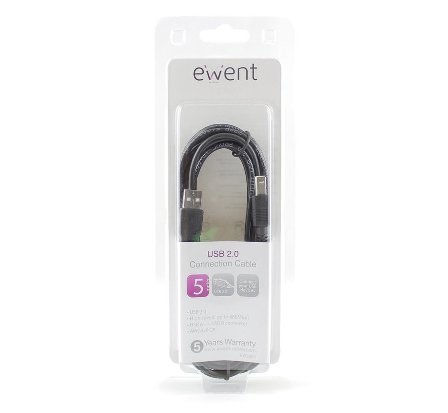 USB 2.0 Connection Cable 5 Meter