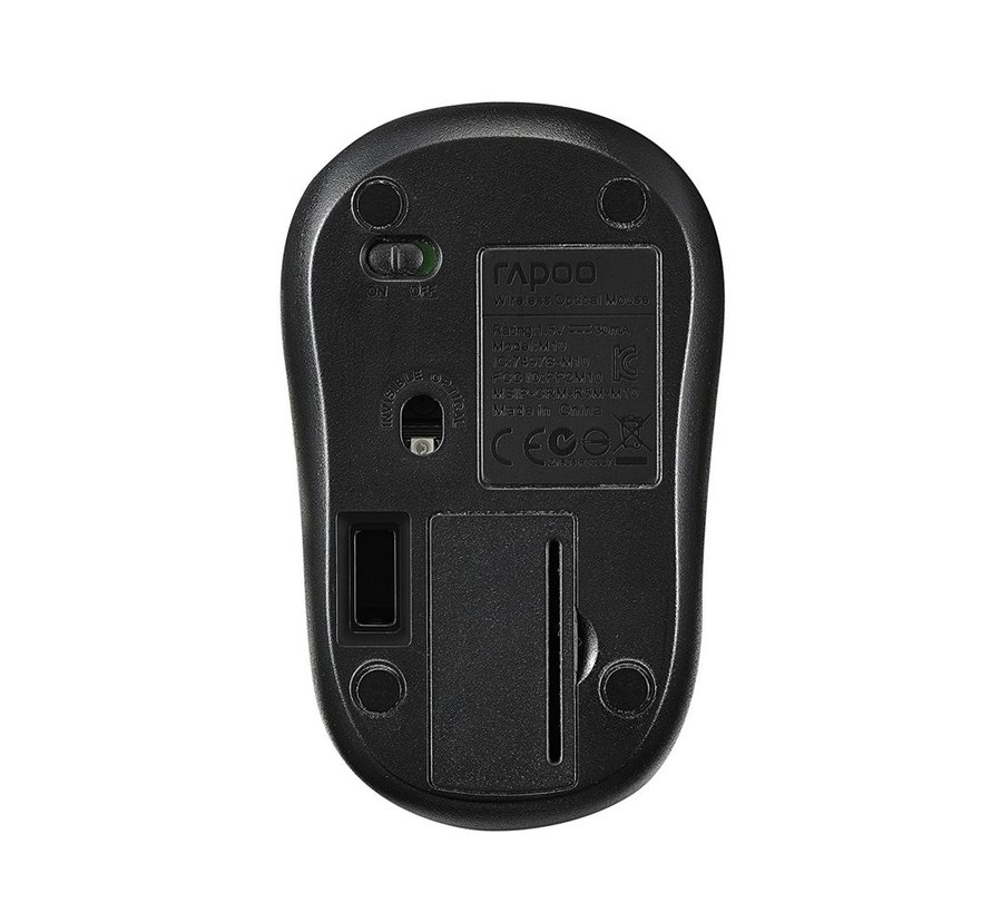 M10Plus 1000dpi Wireless Optical Mouse - Black