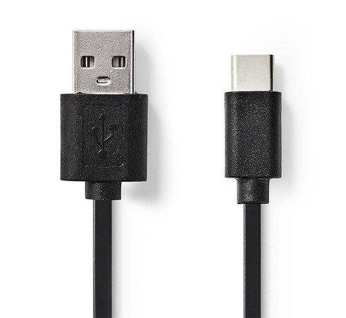 Nedis Kabel USB 2.0 / Type-C male - A male / 3m / Zwart