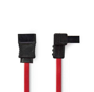 OEM Nedis CCGP73110RD05 SATA-kabel 0,5 m SATA 7-pin Zwart, Rood