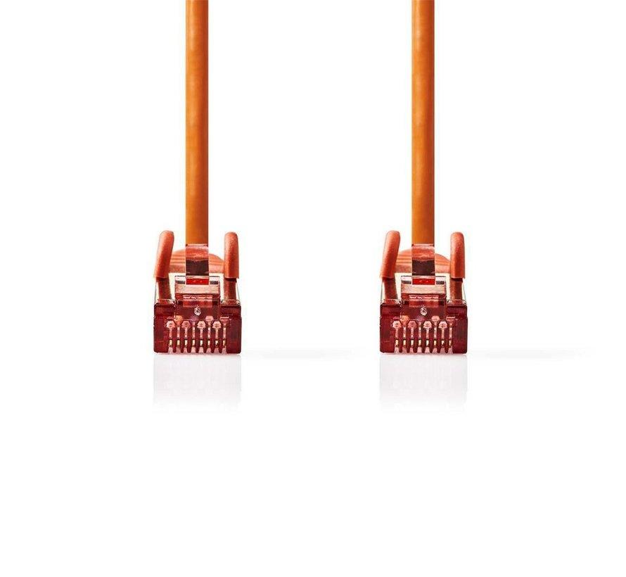 CAT6 S/FTP-netwerkkabel/RJ45 1m Oranje