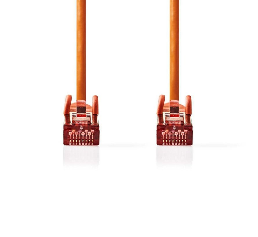 CAT6 S/FTP-netwerkkabel/RJ45 2m Oranje