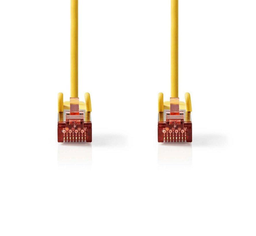 CAT6 S/FTP-netwerkkabel/RJ45 1m Geel