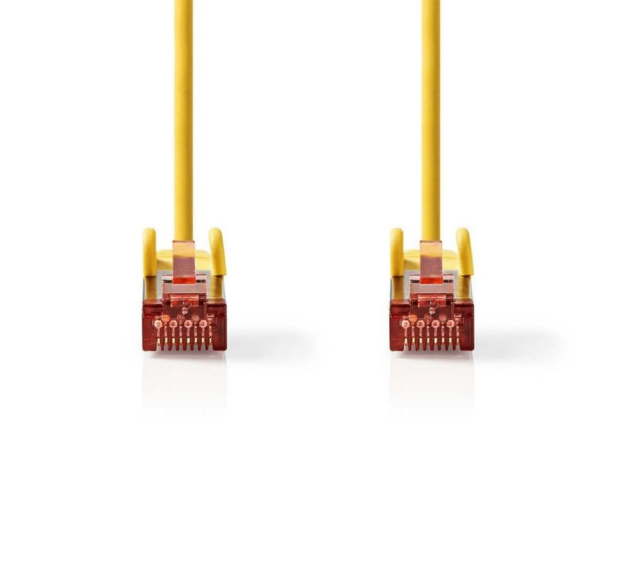 CAT6 S/FTP-netwerkkabel/RJ45 2m Geel