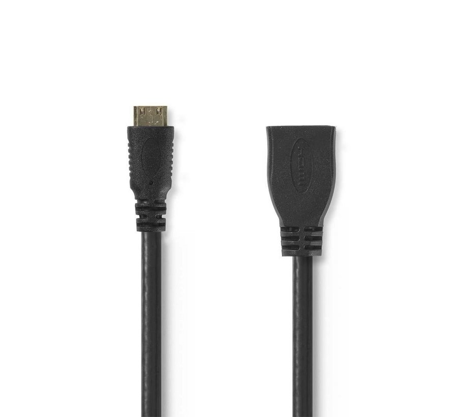 Kabel High Speed HDMI ethernet HDMI mini-connector 0.2m