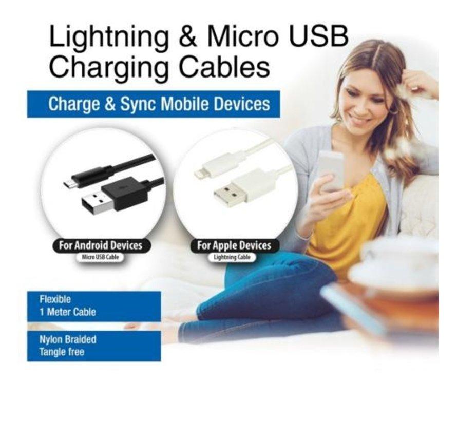 10 x Apple Lightning (EW1278) and 20 x M-USB (EW1279)