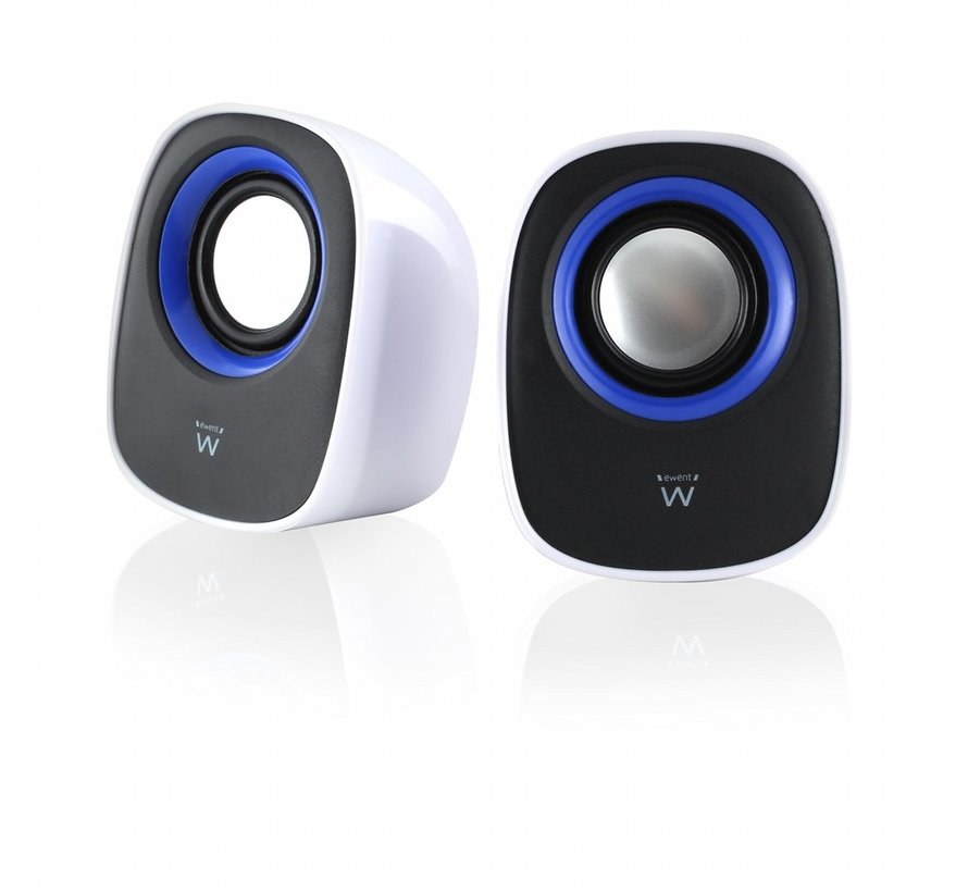 Speaker set 2.0 USB powered Black/White