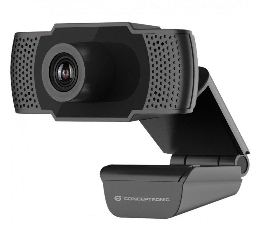 Conceptronic AMDIS webcam 2 MP F-HD USB 2.0 Zwart