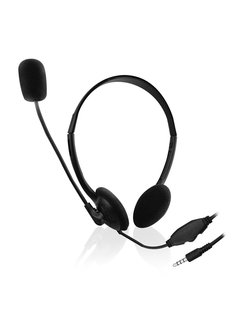 Ewent EW3567 hoofdtelefoon/headset Hoofdband 3,5mm-connector Zwart