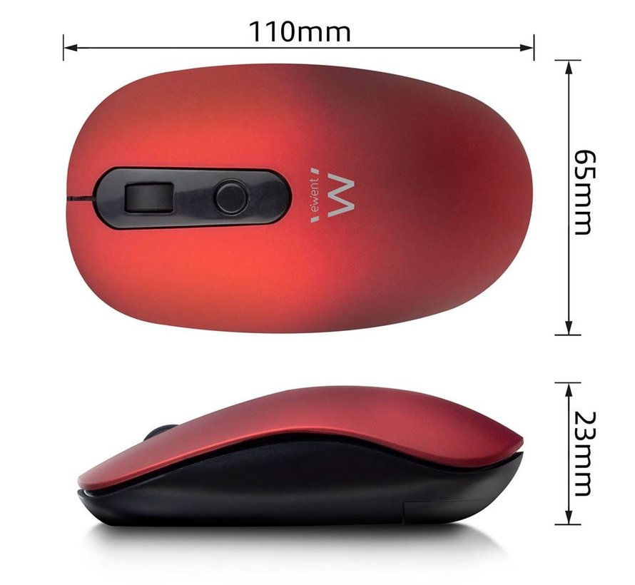 Wireless mouse red 1000dpi