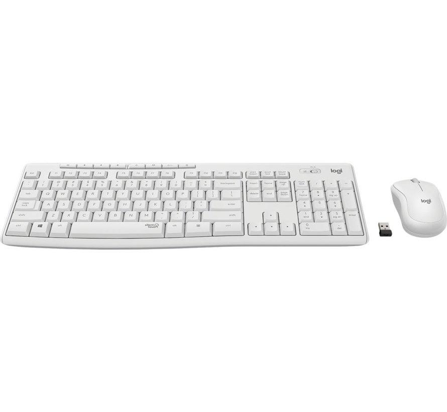 MK295 Keyboard Silent Wireless White