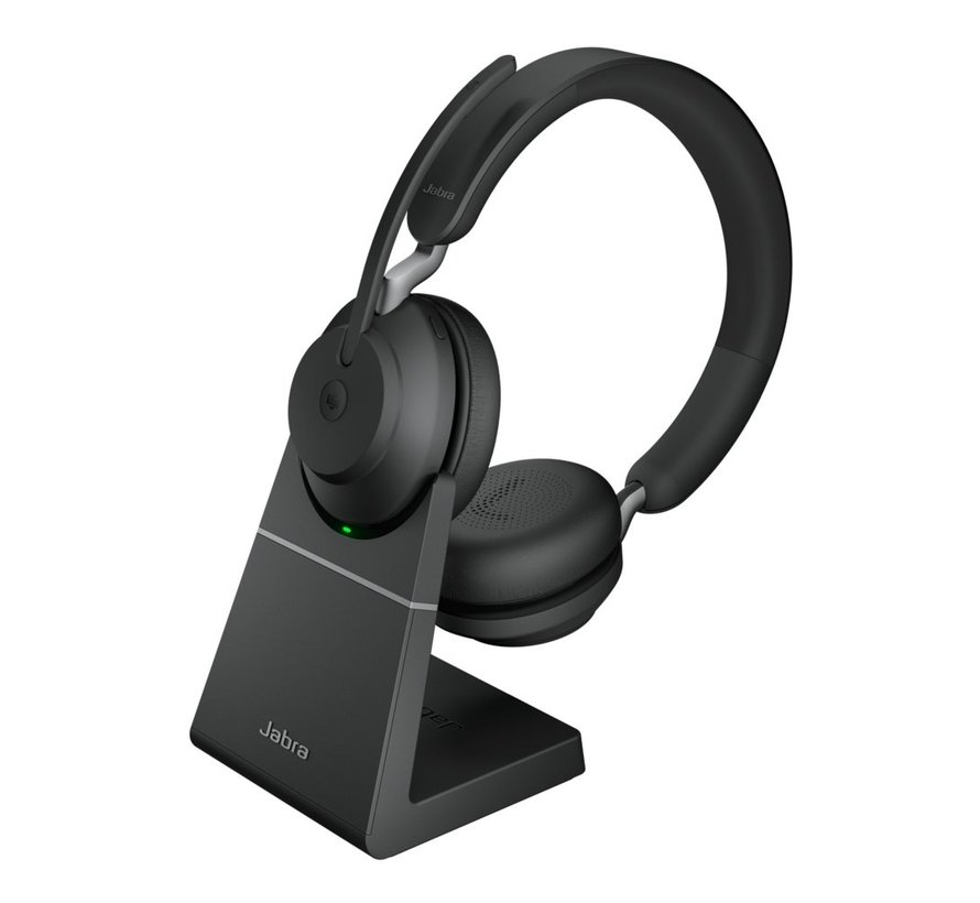 Jabra Headset Evolve 65 Stereo MS Duo + Oplaadstation USB