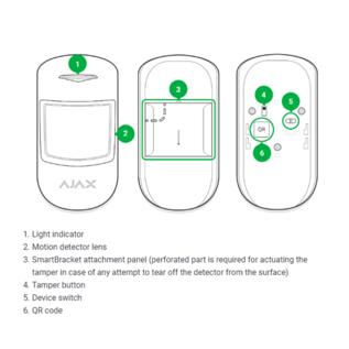 AJAX Systems Ajax MotionProtect Plus, draadloze PIR Radar