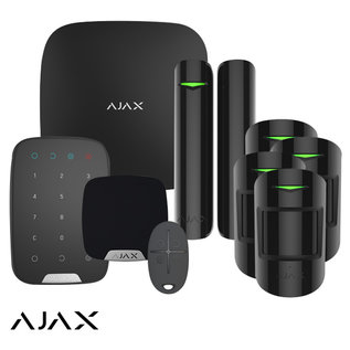AJAX Systems AJAX StarterKit XL, Hub, 4 X MotionProtect, HomeSiren, Keypad, DoorProtect