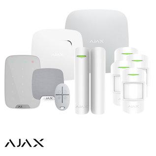 AJAX Systems AJAX StarterKit XXL, Hub, 4 X MotionProtect, HomeSiren, Keypad, DoorProtect, FireProtect