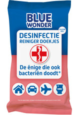 Blue Wonder Blue Wonder Desinfectie Reis/WC Doekjes - 1 pakje 20 doekjes