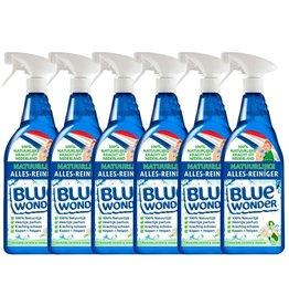 Blue Wonder Blue Wonder 100% natuurlijke Alles Reiniger Oranjebloesem Voordeelverpakking - 6x 750 ml spray fles (4,5 L)