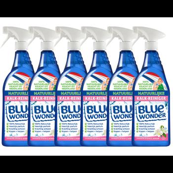 Blue Wonder Blue Wonder 100% natuurlijke Kalk-reiniger Voordeelverpakking - 6x 750 ml spray fles (4,5 L)