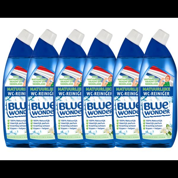 Blue Wonder Blue Wonder 100% natuurlijke WC-reiniger Voordeelverpakking - 6x 750 ml fles omdoos (4,5 l)