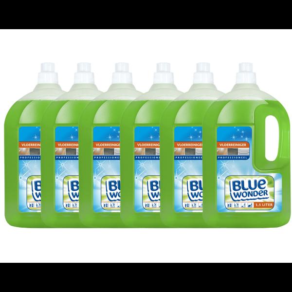 Blue Wonder Blue Wonder Professioneel Vloer-reiniger Dop 6x 1500 ml omdoos