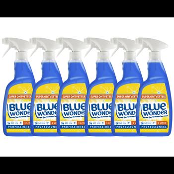 Blue Wonder Blue Wonder Professioneel Super ontvetter Spray  6x 1000 ml omdoos