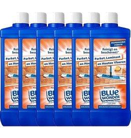 Blue Wonder Blue Wonder Parket, Laminaat en Houten Vloeren reiniger Voordeelverpakking 6x 750 ml