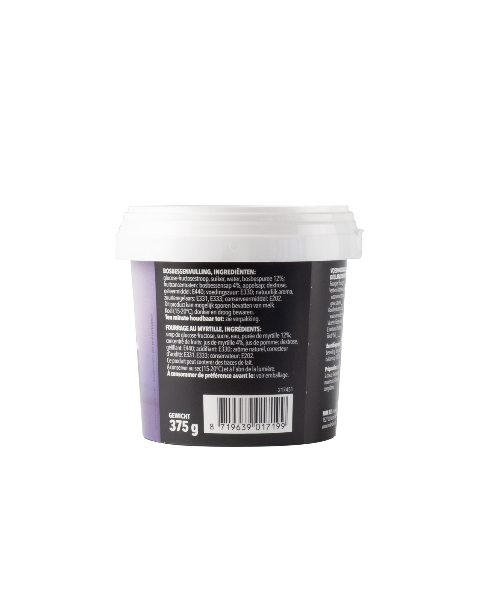 VOILA Home Bakery Voila fruit filling blueberries - 375 gram cup