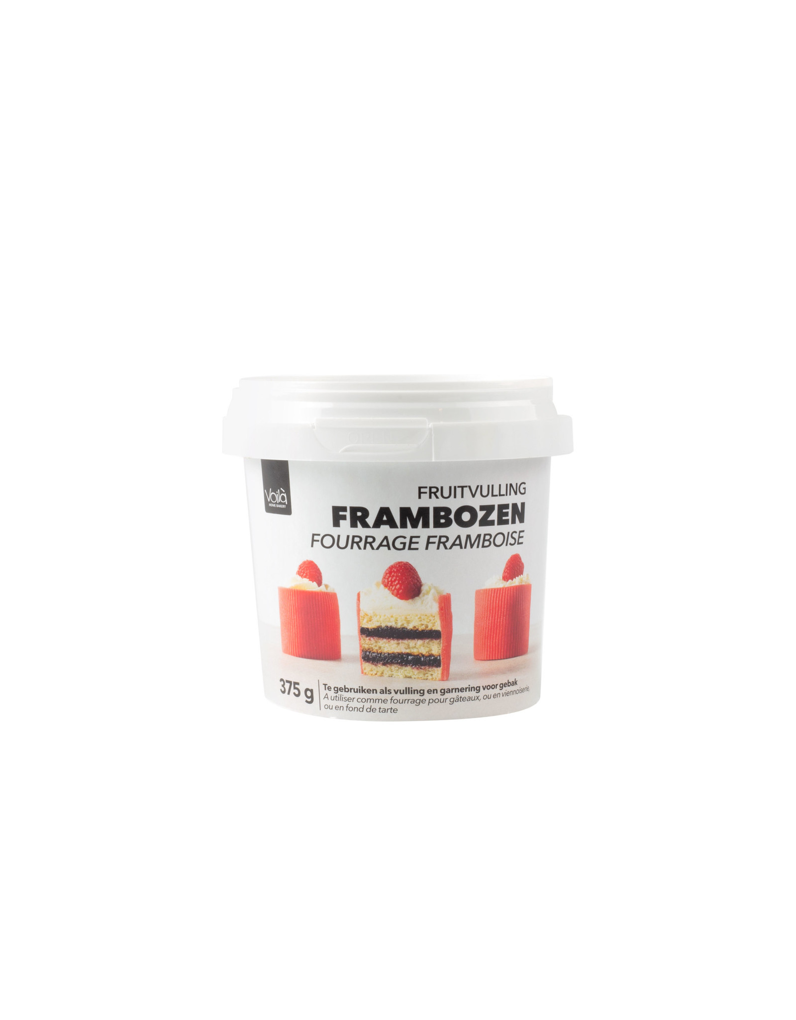 VOILA Home Bakery Voila fruit filling raspberry - 375 gram cup