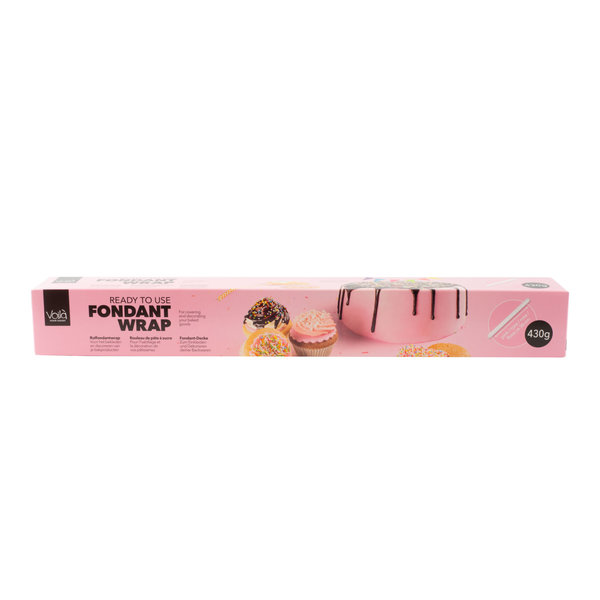 VOILA Home Bakery Voila Uitgerolde rolfondant-wrap roze - 430 gram