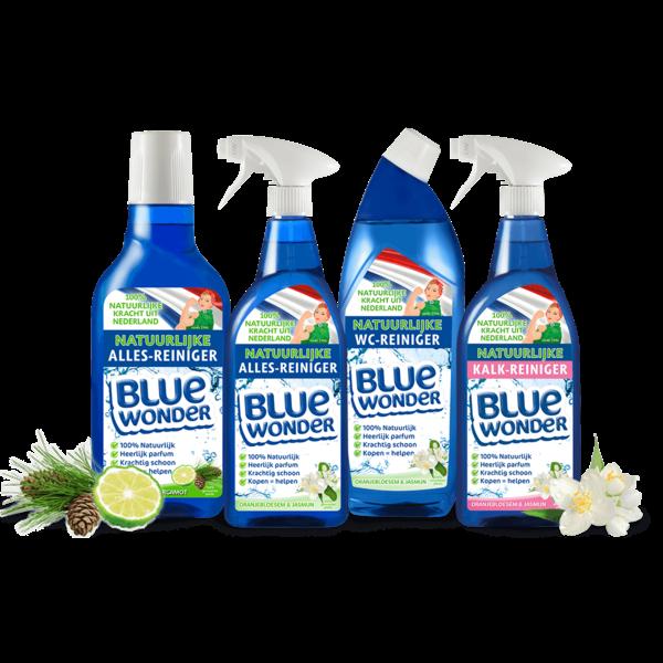 Blue Wonder Blue Wonder 100% natuurlijke Kalk-reiniger Voordeelverpakking - 6x 750 ml spray fles omdoos (4,5 L)