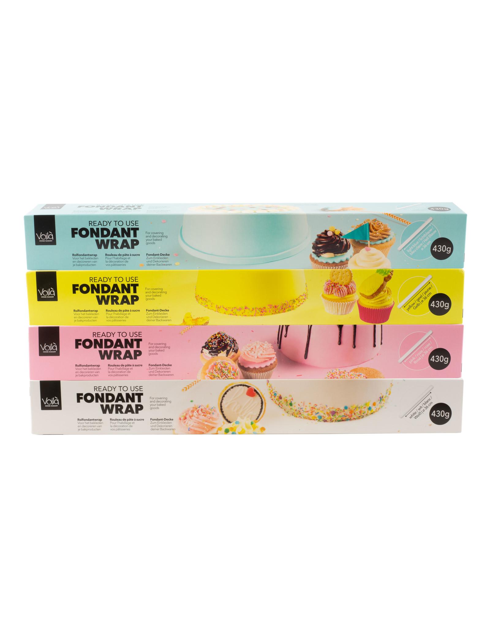 VOILA Home Bakery Voila Uitgerolde rolfondant-wrap roze Voordeelverpakking - 6x 430 gram omdoos (2,58 KG)