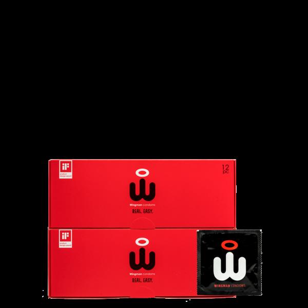 Wingman Wingman Condoms Real Easy 24 pack 56 mm