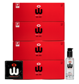 Wingman Wingman Condoms Real Easy 48 pack 56 mm + 100ML Lube Combi