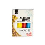 VOILA Home Bakery Voila Glazuur stiften   4 kleuren   wit rood geel blauw - 76 gram pakje