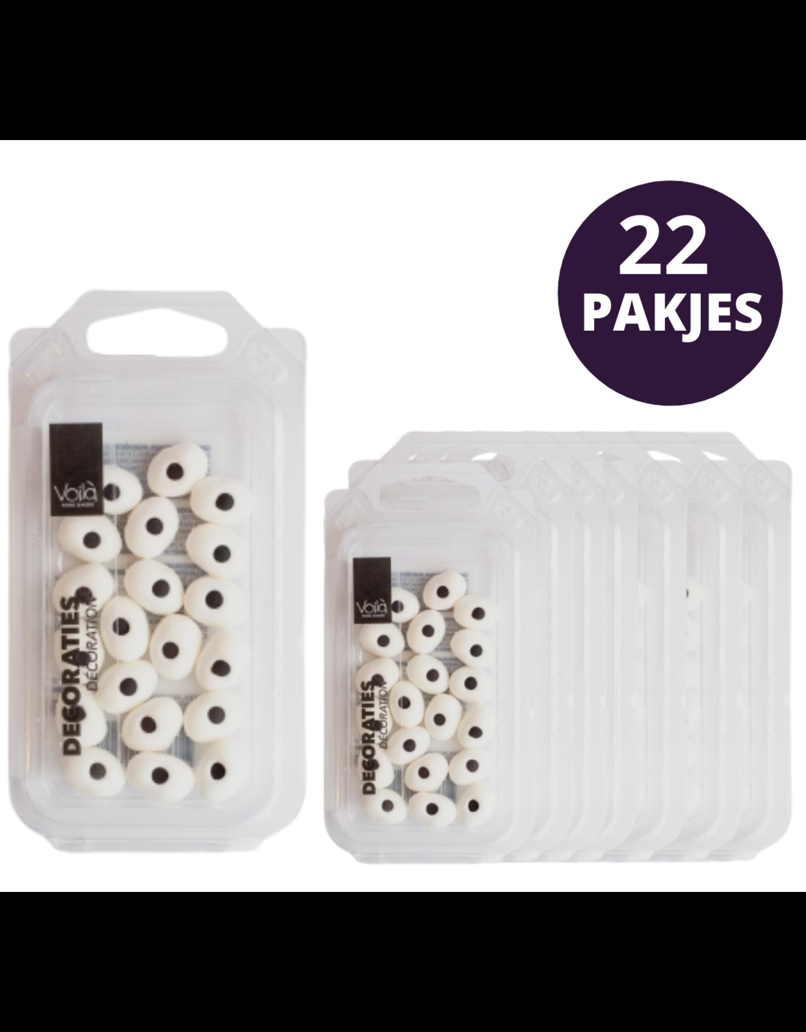 VOILA Home Bakery  Voila   Suikeroogjes   Decoratie - 22x 20 stuks 18 gram pakje omdoos (400 gram)
