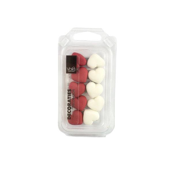 VOILA Home Bakery Voila | Suikerhartjes | Decoratie - 22x 14 gram omdoos (308 gram)