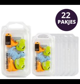 VOILA Home Bakery Voila | Suiker Dinosaurussen | Decoratie - 22x 16 gram (352 gram)